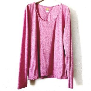 Lucy Lucytech Pink Long Sleeve Active Tee XL